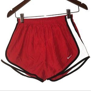 Nike Dri Fit Running Shorts Red Womens Small